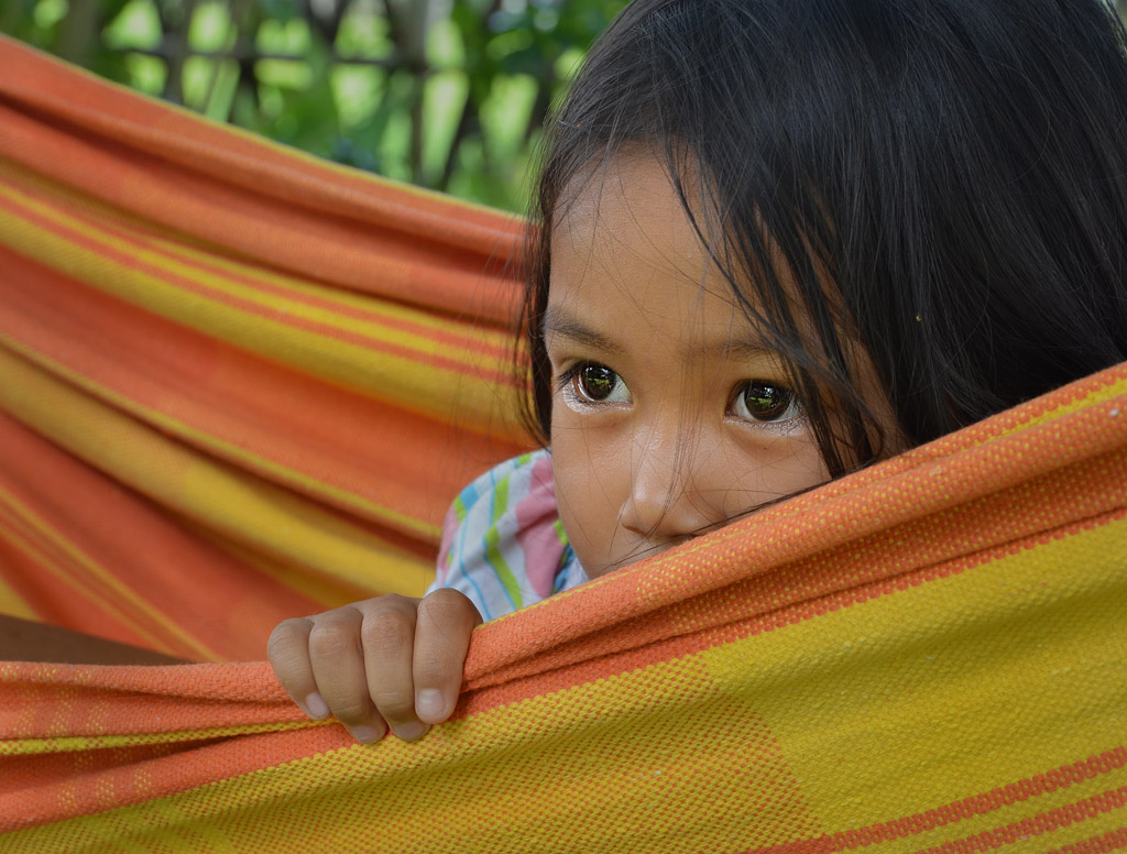 Batshieba in hammock Argao Cebu Philippines child