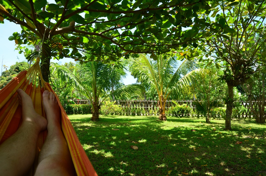Argao house garden from hammock view